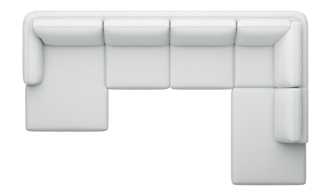 Henders and Hazel - Portland - Sofas - Longchair links - 3-Sitzer ohne Armlehne - Ottomane rechts