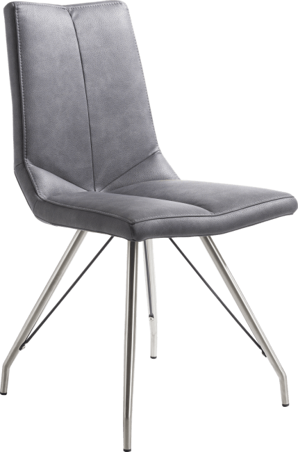 XOOON - Artella - Skandinavisches Design - stuhl - spider gestell edelstahl - pala anthrazit