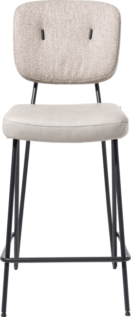 XOOON - June - chaise de bar - cadre off black + ressorts ensaches