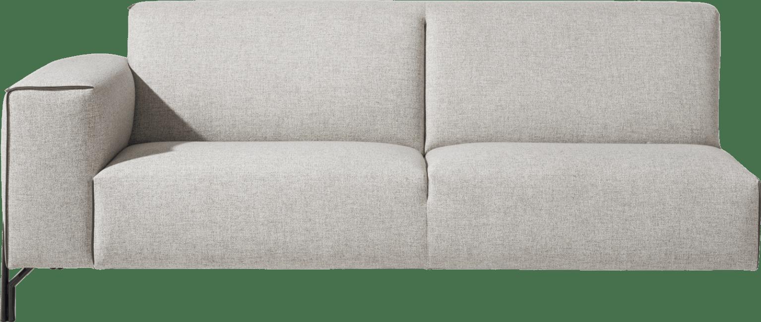 XOOON - Prizzi - Design minimaliste - Toutes les canapés - 3-places accoudoir gauche