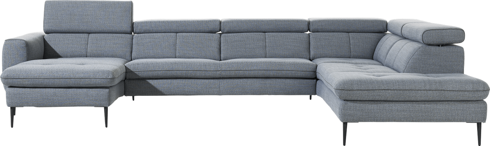 XOOON - Talisman - Sofas - Longchair links - 2,5 Sitzer ohne Armlehne - Ottomane rechts
