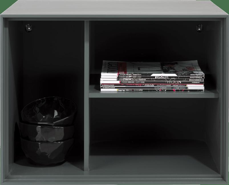 XOOON - Elements - Minimalistisches Design - box 45 x 60 cm. - lackiert - zum aufhaengen + 3-nischen + led