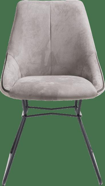XOOON - Arwen - chaise cadre noir + combi tissu savannah / pala