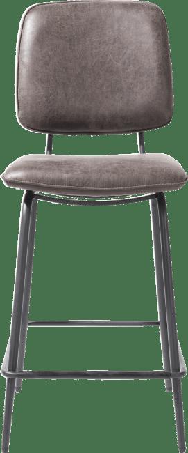 XOOON - Novali - Design minimaliste - chaise de bar - cadre off black - tissu secilia