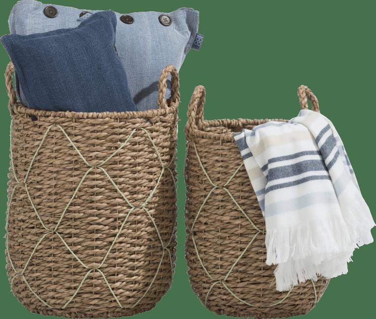 XOOON - Coco Maison - rio set of 2 baskets h45-40-cm