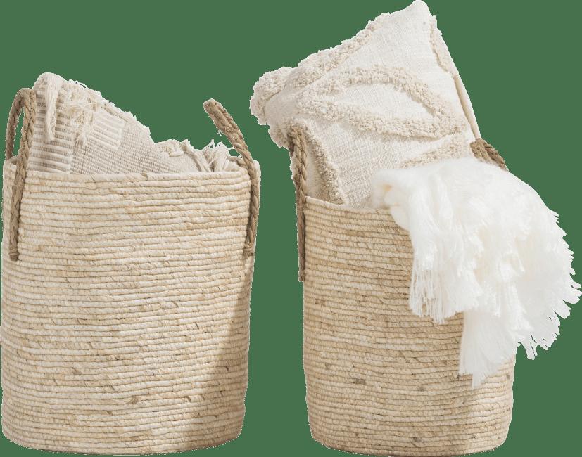 XOOON - Coco Maison - tulum set of 2 baskets h40-35cm