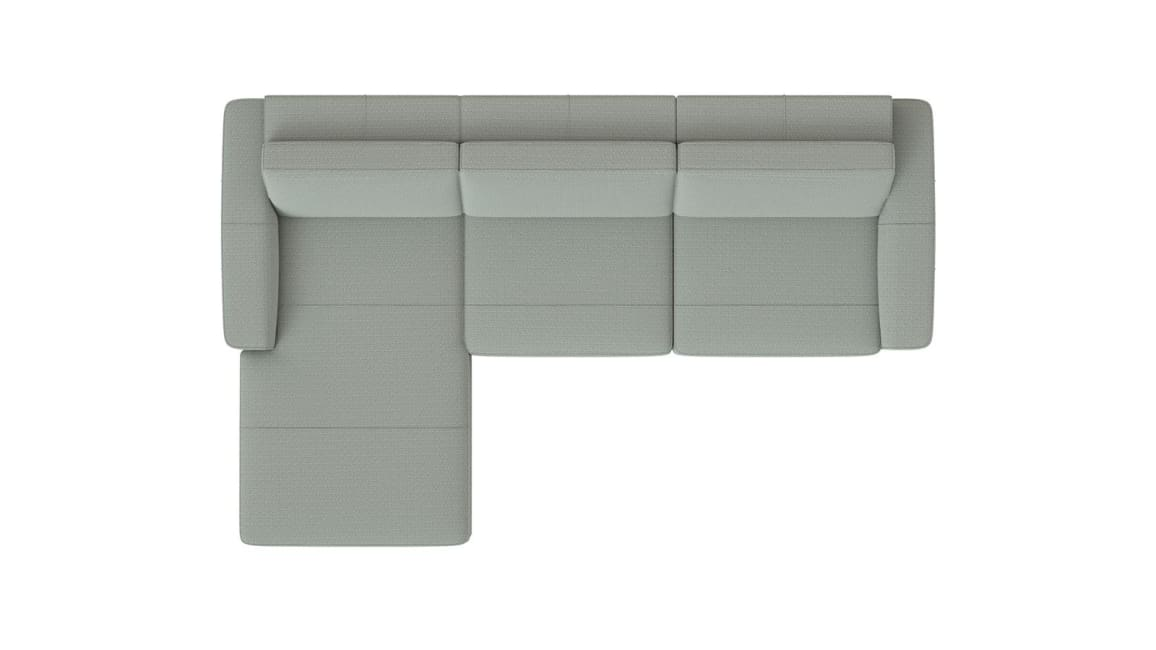XOOON - Denver - Sofas - Longchair links - 3 Sitzer Armlehne rechts