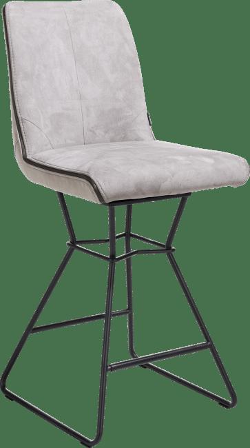 XOOON - Arwen - chaise de bar cadre noir + combi tissu savannah / pala