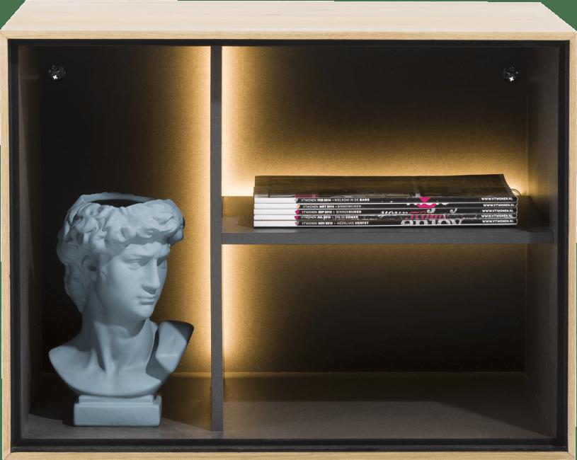 XOOON - Elements - Minimalistisch design - box 45 x 60 cm. - hout - hang + 3-niches + led