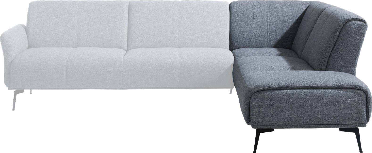 XOOON - Manarola - Minimalistisches Design - Sofas - ottomane rechts