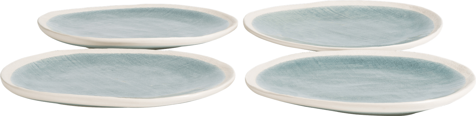 Happy@Home - Coco Maison - amalfi set van 4 borden d27cm