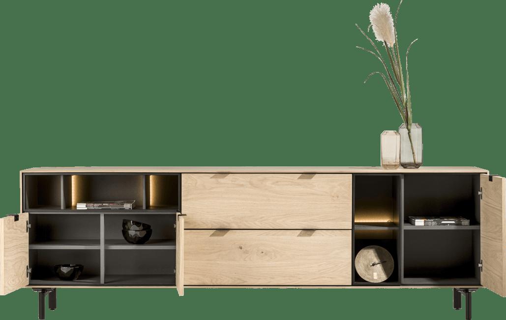 XOOON - Elements - Minimalistisches Design - satz von 2 - fuesse in form u + 2 x zentralfuess (lowboards & sideboard)