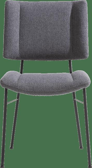 XOOON - Tatum - chaise - pieds noir - tissu ponti