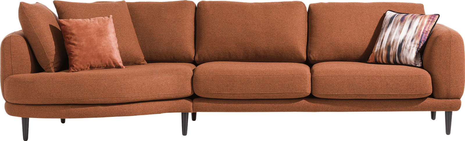 Henders & Hazel - Portland - Moderne - lounge end - small - 2 coussins big inclus - rond - gauche