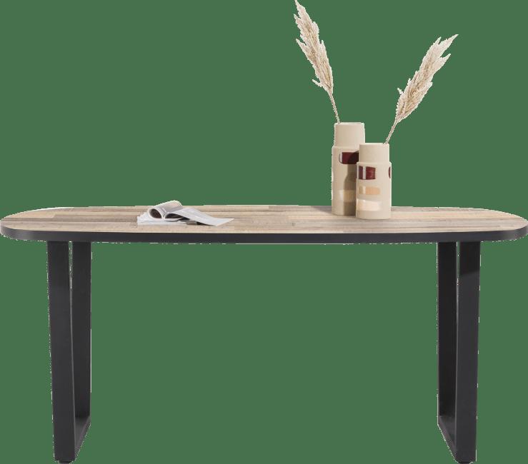H&H - Avalox - Industriel - table de bar ovale 240 x 110 cm