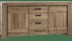 Henders & Hazel - Santorini - Natuerlich - sideboard 185 cm - 2-tueren + 3-laden
