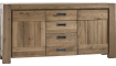Santorini - dressoir 185 cm - 2-deuren + 3-laden