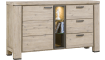 Happy@Home - Coiba - Modern - dressoir 160 cm - 1-deur + 3-laden + 3-niches (+ led)