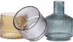 Coco Maison - 3 vasen abigail - gruen / grau / bernstein combi