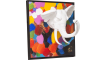 Coco Maison - decoration murale en 3-d multicolor elephant - 90 x 90 cm