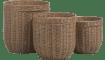 Happy@Home - Coco Maison - tao set van 3 bijzettafels h47-40-32cm