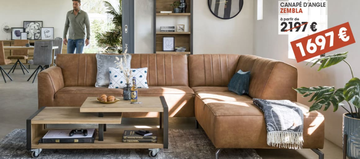 Canapé d'angle Zembla