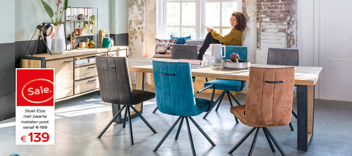 Metalox tafel met stoel Elza