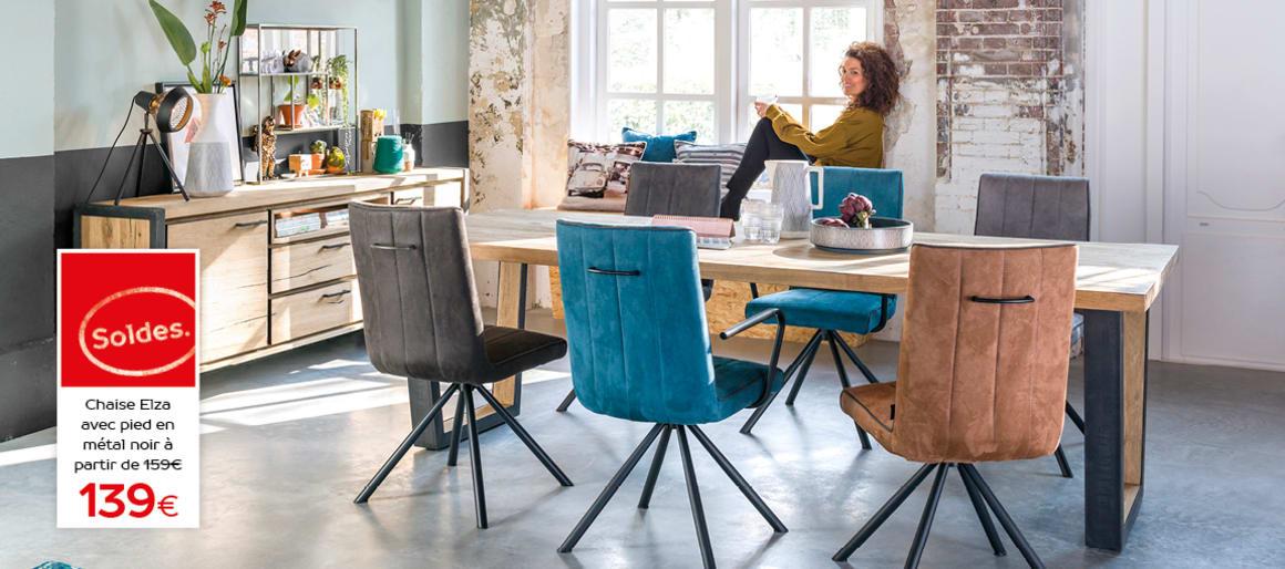 Table Metalox et chaise Elza