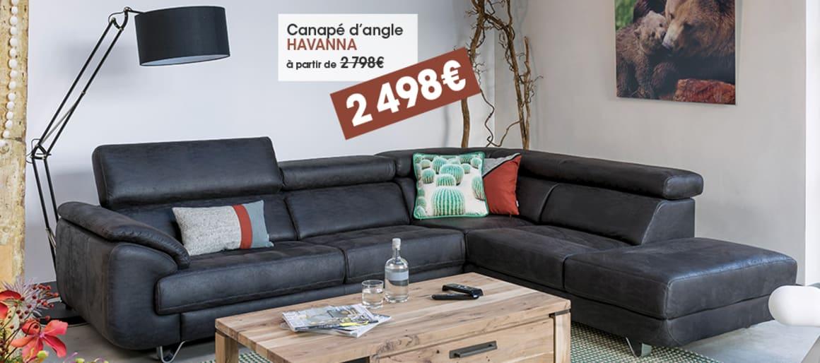 Canapé d'angle HAVANNA