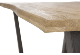 rand mit baumrinde from + v-form metall / holz fuesse