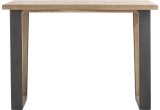 bords effet tronc d'arbre + v-forme pied metal / bois