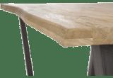 met rand boomschors + v-vorm metalen / houten poot