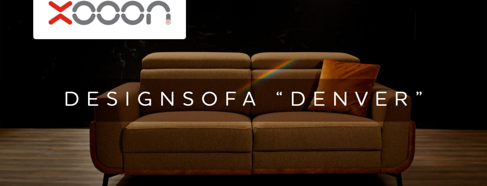 """Loungen mit dem Designsofa """"DENVER"""""""