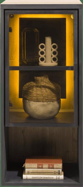 element a poser ou a suspendre 45 cm. - 1-porte en verre +1-niche (+ led)