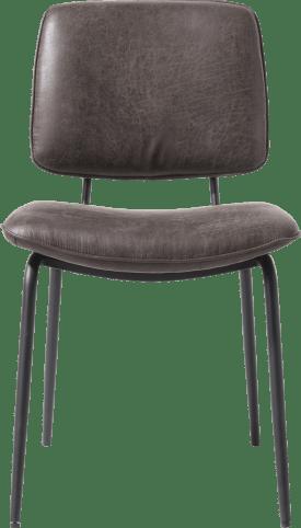 chaise - cadre off black - tissu secilia