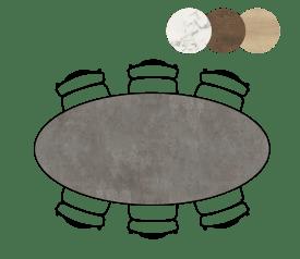 table de bar ellips - 220 x 105 cm (hauteur 92 cm)
