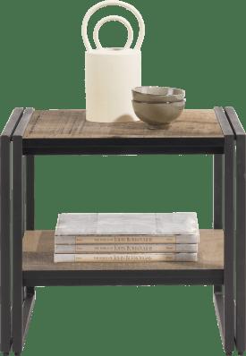 table d'appoint 50 x 50 cm. + 1-niche