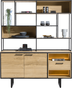 buffet 2-doors + 1-drawer + 12-niches (+ led)