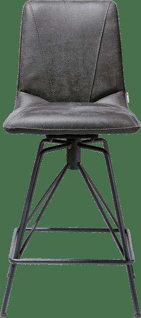 chaise de bar - pied off black rocky + poignee catania noir
