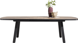 table a rallonge ovale 190 (+ 60) x 110 cm
