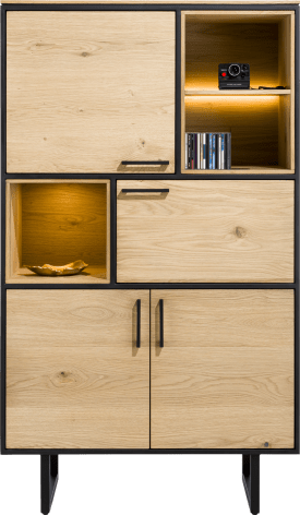 armoire 100 cm - 4-portes + 3-niches (+ led)