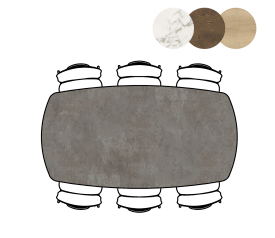 table ovale - 200 x 105 cm