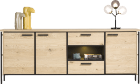 dressoir 230 cm. - 3-deuren + 2-laden + 1-niche