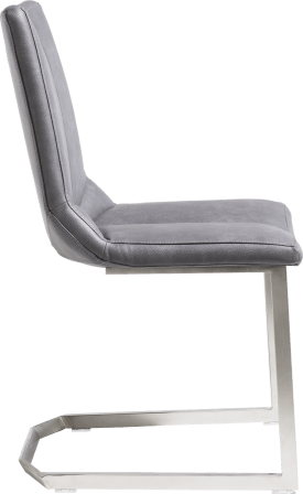 chaise - pied inox traineau - pala anthracite