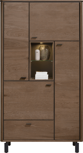 armoire 110 cm. - 4-portes + 1-tiroir + 2-niches