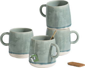 amalfi set of 4 mugs 450ml h9cm
