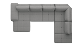 Ottomane links - 2,5 Sitzer ohne Armlehne - Longchair rechts