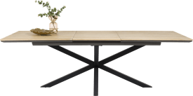 table a rallonge avec pied central 180 x 100 cm (+ 60 cm)