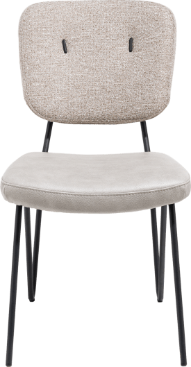 chaise sans accoudoirs - cadre off black + ressorts ensaches