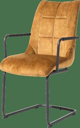 fauteuil - pieds traineau rond + poignee - tissu karese